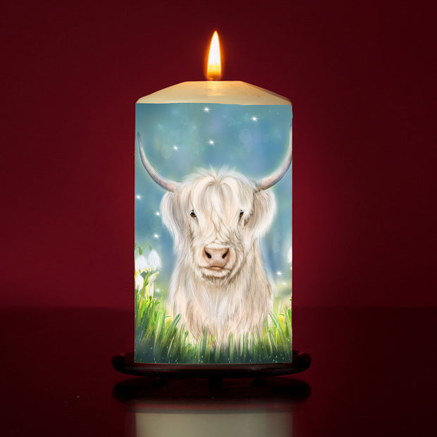 Snowdrop Large Pillar Candle