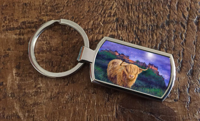 """Magical Edinburgh"" (Oblong keyring)"