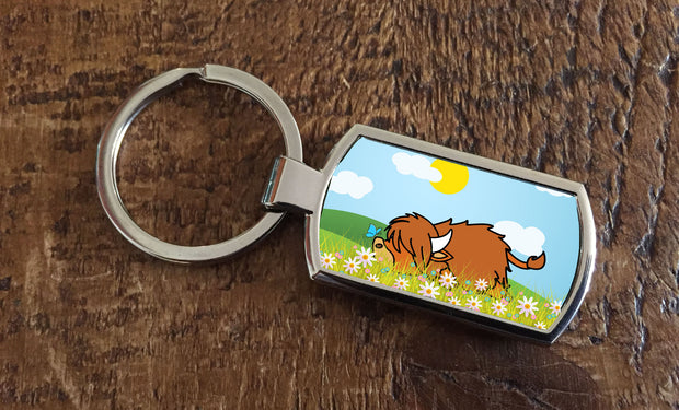 "New ""Lazy Coo"" (Oblong keyring)"