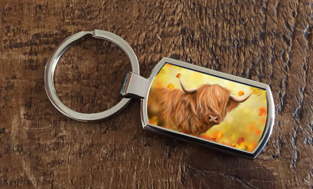 """Autumn Gold"" (Oblong keyring)"