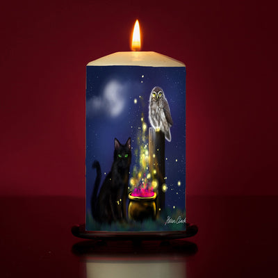 Sparkling Cauldron Pillar Candle