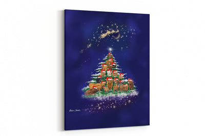 The Herd Christmas Tree A4 canvas