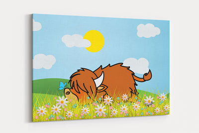 "NEW ""Lazy Coo"" A2 Canvas"