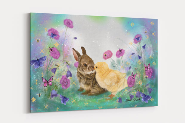 """Cotton tail kiss"" - A4 Standard Canvas Print"