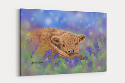 """Bluebell"" - A4 Standard Canvas Print"
