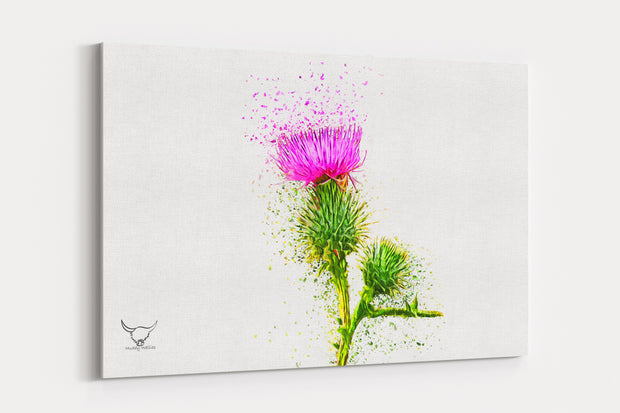 "Muddy Wellies ""Icon of Scotland""  - A4 Standard Canvas Print"