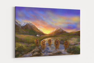 "NEW ""Glencoo""  - A4 Standard Canvas Print"
