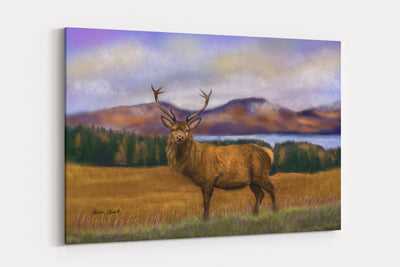 """Prince of the Highlands""  - A4 Standard Canvas Print"