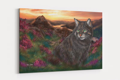 "NEW ""Highland Tiger""  - A4 Standard Canvas Print"