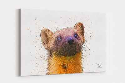 "Muddy Wellies ""Pine Martin""  - A4 Standard Canvas Print"