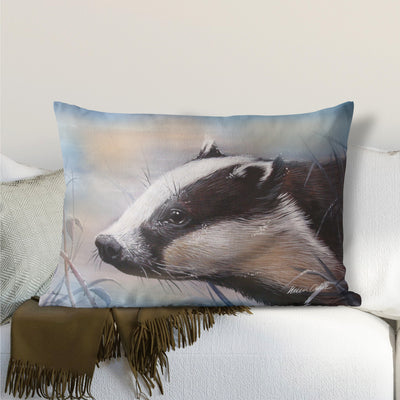 Blue Frost Badger Lumbar Cushion