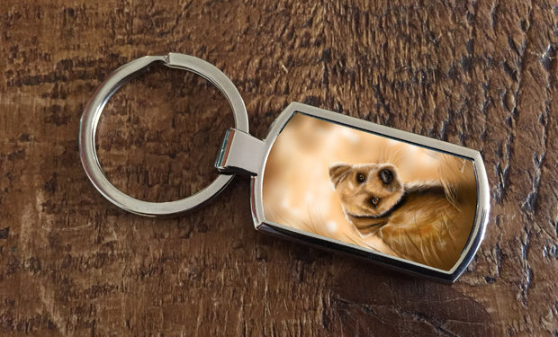 """Boarder View"" (Oblong keyring)"