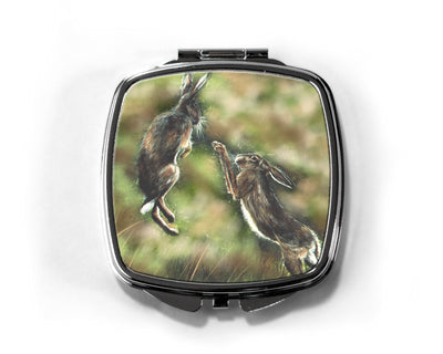 """Boxing Hares"" Compact Mirror"
