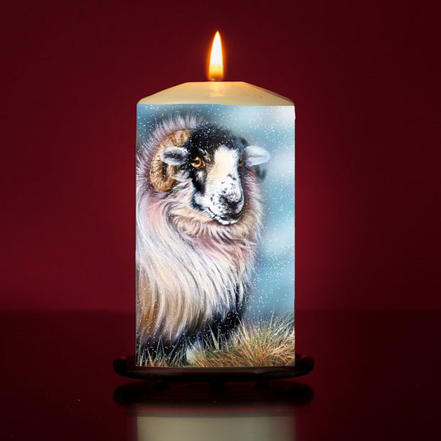 Cathy Sheep Large Pillar Candle