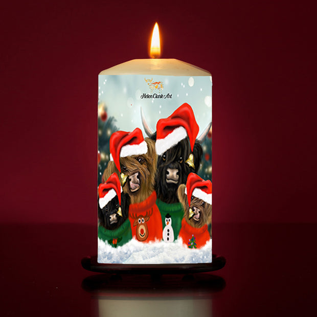 Christmas Jumpers Large Pillar Candle