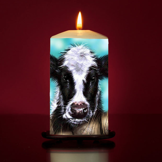 Curious Calf Large Pillar Candle