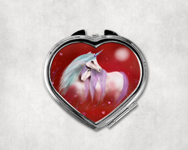 Devotion Heart Shaped Compact Mirror