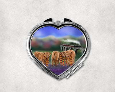 Enchanted Express Heart Shaped Compact Mirror