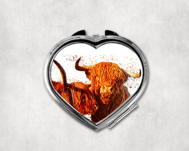 Forever Scotland Heart Shaped Compact Mirror