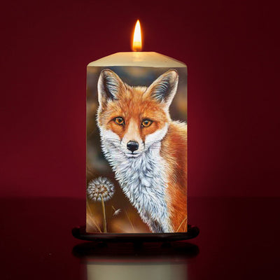 Fox and the Dandelion Large Pillar Candle
