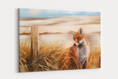 """Fox Dawn"" - A4 Standard Canvas Print"