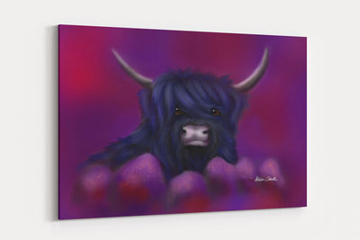 """Hamish In Blue"" - A4 Standard Canvas Print"