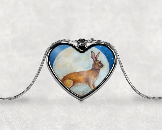 Hare and the Moon Pendant