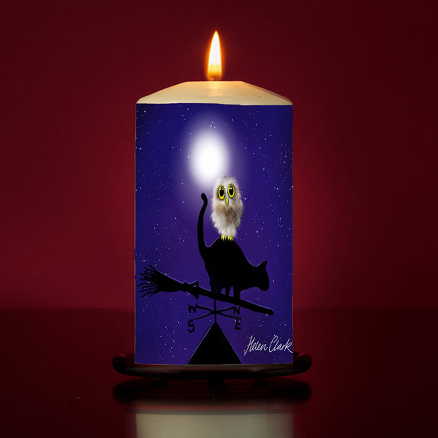 Hoot Large Pillar Candle