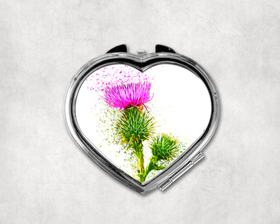 Icon of Scotland Heart Shaped Compact Mirror