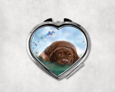 Lazy Afternoon Heart Shaped Compact Mirror