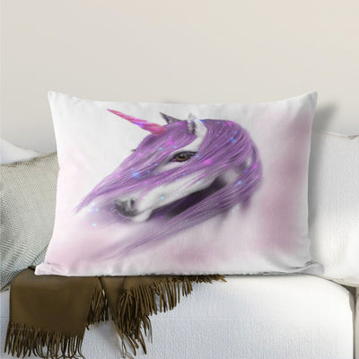 Lilac Unicorn Lumbar Cushion