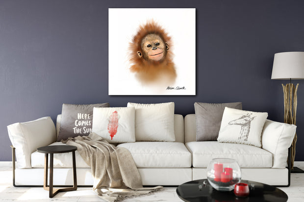 """Little Orangutan"" SUPER SIZE Canvas"