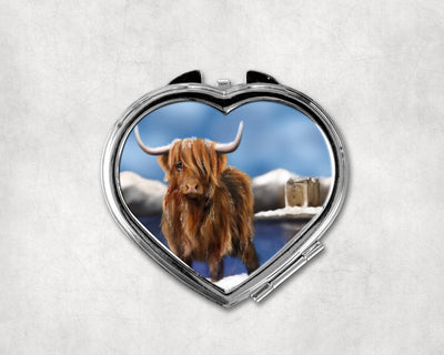 Lochie Heart Shaped Compact Mirror