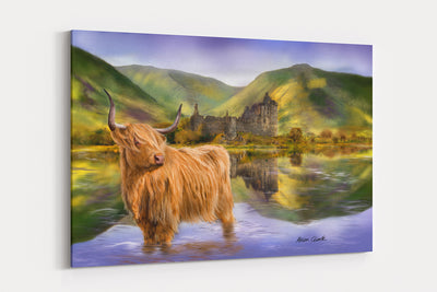 """The Guardian of Loch Awe""  - A4 Standard Canvas Print"