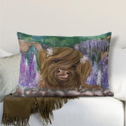 """Marmalade and the Cottage Garden"" Lumbar Cushion"