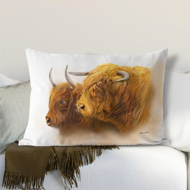 """Laird and His Lady"" Lumbar Cushion"