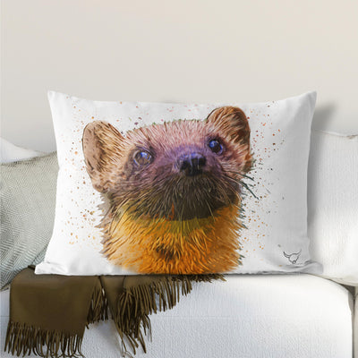 "Muddy Wellies ""Pine Martin"" Lumbar Cushion"