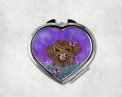 Marmalade Spring Heart Shaped Compact Mirror