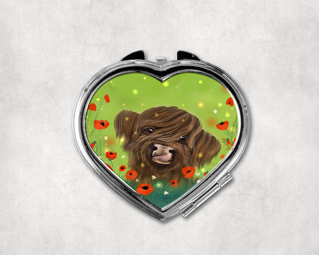 Marmalade Summer Heart Shaped Compact Mirror