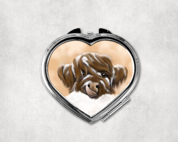 Marmalade Winter Heart Shaped Compact Mirror