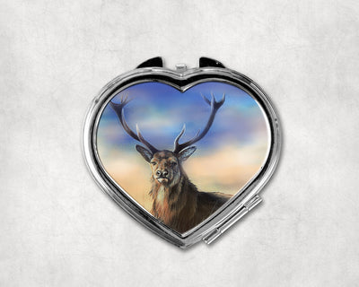 Monarch of the Peaks Heart Shaped Compact Mirror
