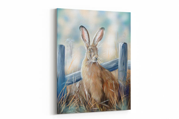 """Mystical Hare"" - A4 Standard Canvas Print"