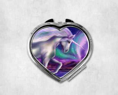 Northern Lights Heart Shaped Compact Mirror