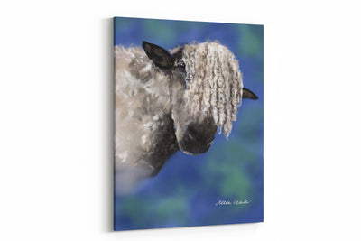 """Nosey Parker Curly Sheep"" A2 canvas"