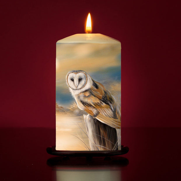 Owl Dawn Large Pillar Candle