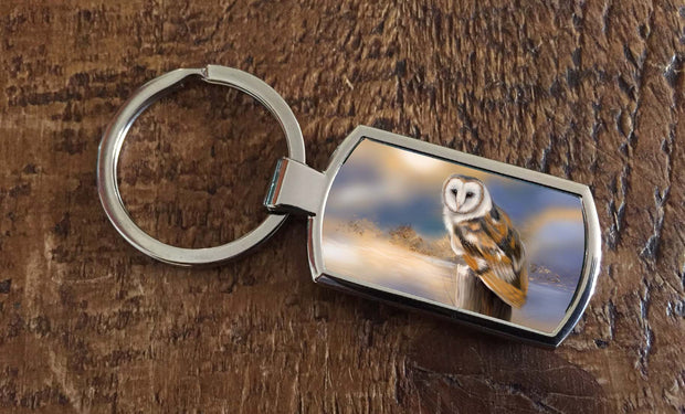 Owl Dawn (Oblong keyring)