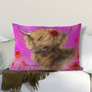 Poppy in the Pink Lumbar Cushion