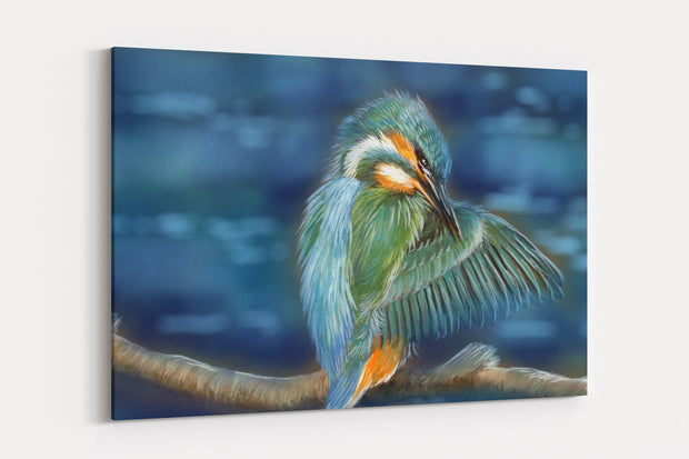 """Preening Time"" - A4 Standard Canvas Print"