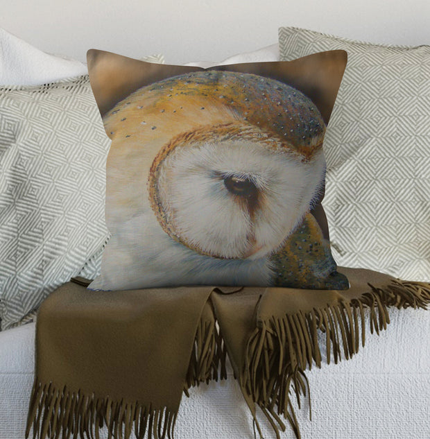 Profile of a Barn Owl Scatter Cushion