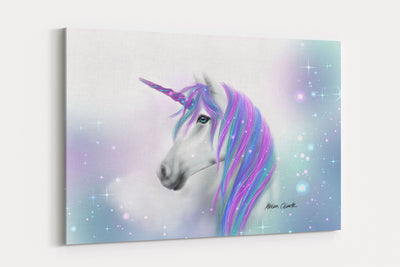 """Rainbow Sparkle"" - A4 Standard Canvas Print"